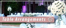 Table Arrangements For Private Functions And Parties